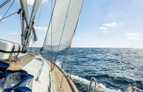 Yacht On The Sea